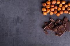 Nuss und Schokolade Lizenzfreie Stockbilder