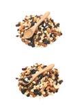 Nuss- und Trockenfrüchtemischung lokalisiert Stockbilder