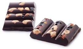 Nussartige Schokolade Lizenzfreie Stockbilder