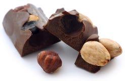 Nussartige Schokolade Lizenzfreies Stockbild