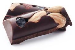 Nussartige Schokolade Stockbilder