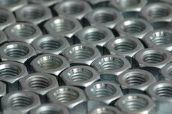Nut. Metal nuts Royalty Free Stock Image