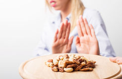 Nut allergies Stock Photos