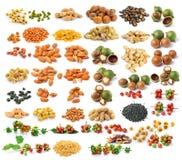 Nut almond  on white background Stock Photos