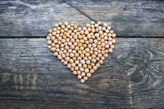 Nut as a symbol of the heart Royalty Free Stock Images