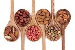 Nut Assortment Royalty Free Stock Photography