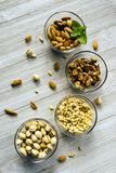 Nut Assortment Whole Foods Walnuts Pine Nuts Pistachios Almonds Stock Photography