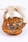 Nut basket Stock Photo