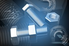 Nut and bolt Royalty Free Stock Photos