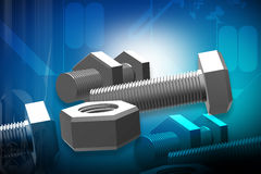 Nut and bolt Stock Photography