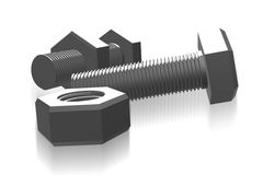 Nut and bolt Royalty Free Stock Photo