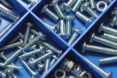 Nut and bolt Royalty Free Stock Image