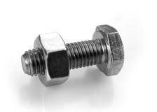 Nut and bolt Royalty Free Stock Photography