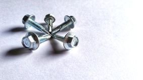 Nut bolt in best teamwork stock images