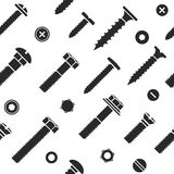 Nut and bolt head icons seamless. Nut and bolt head icons seamless pattern royalty free illustration
