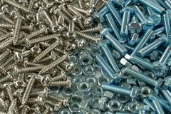 Nut and Bolt and background royalty free stock photos