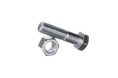 Nut with bolt on top Stock Photo