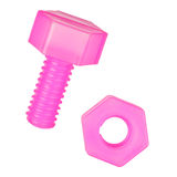 Nut and bolt toy Stock Images
