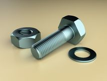 Nut Bolt Washer Royalty Free Stock Photo