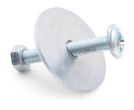 Nut and bolt. Royalty Free Stock Image