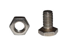 Nut and bolts Stock Photos