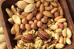 Nut bowl Stock Images