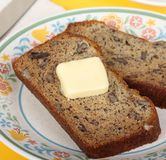 Nut Bread and Butter Royalty Free Stock Photos