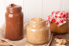 Nut butters Royalty Free Stock Photo