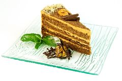 Nut-cake. Tasty cake for with nut cream Stock Photo