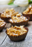 Nut cakes. Festive and party dessert Royalty Free Stock Images