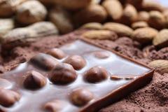 Nut chocolate background 2 Stock Images