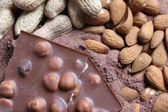 Nut chocolate background 3 Royalty Free Stock Image
