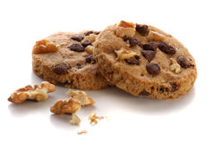 Nut & Chocolate cookies Royalty Free Stock Photography