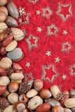 Nut Christmas border Royalty Free Stock Photos