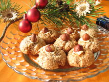Nut cookies Stock Photo