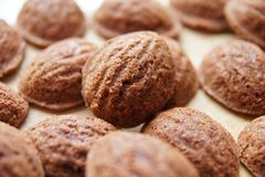 Nut cookies Royalty Free Stock Photography