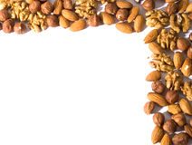 Nut corner Royalty Free Stock Images