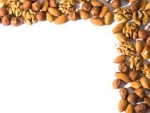 Nut corner Royalty Free Stock Images