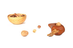 Nut cracker and assorted nuts Stock Images