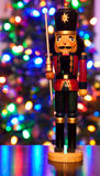 Nut Cracker Christmas. A nut cracker is standing ready to defend his Christmas tree Royalty Free Stock Photos