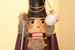 Nut cracker with globes Royalty Free Stock Photo