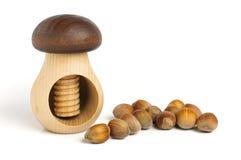 Nut cracker with the hazelnuts Stock Image