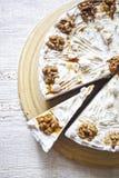 Nut cream cake Royalty Free Stock Photography