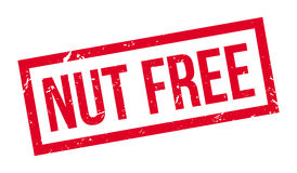 Nut free rubber stamp Stock Image