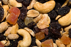 Nut and fruit mix Stock Images