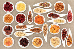 Nut and Fruit Sampler Royalty Free Stock Photography