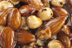 Nut glaze stock photography