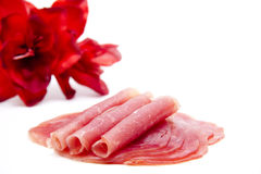 Nut ham rolled Royalty Free Stock Photo