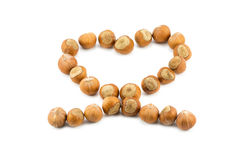 Nut heart Royalty Free Stock Images