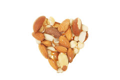 Nut heart Stock Photography